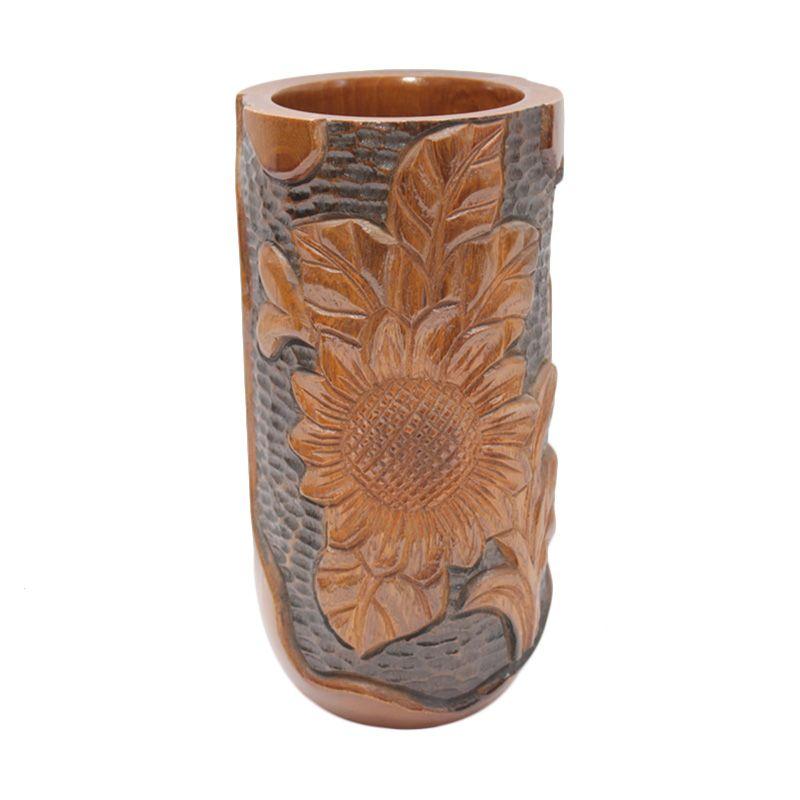 Smesco Trade Kayu Coklat Vas Bunga