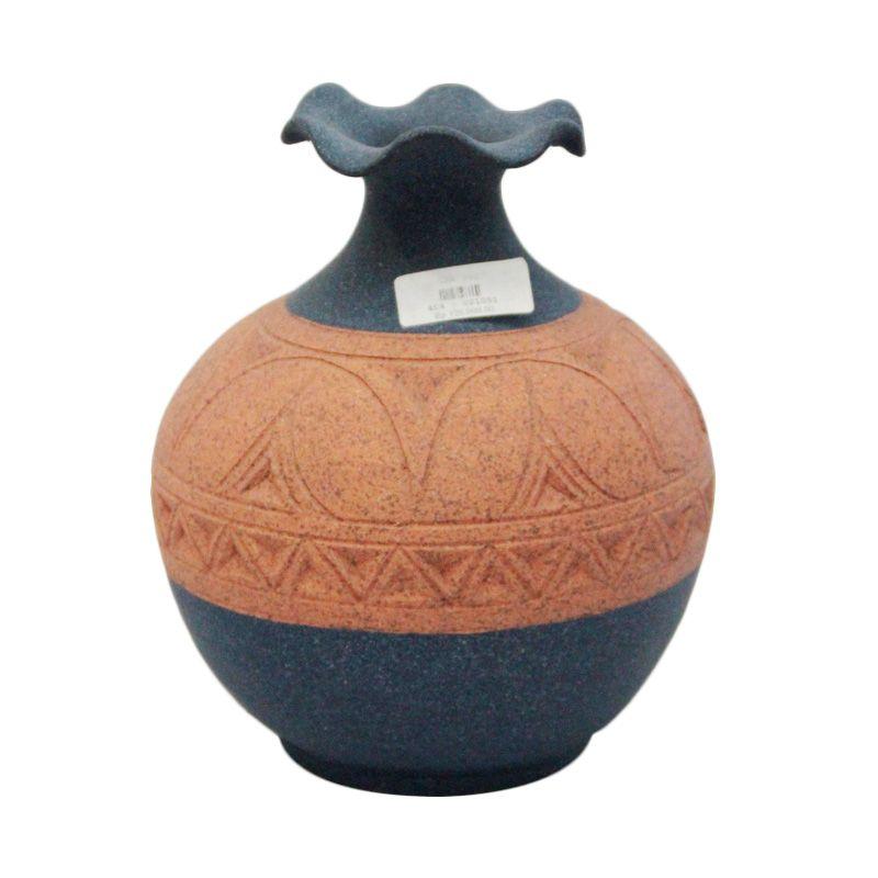 Smesco Trade Keramik Biru Coklat Guci