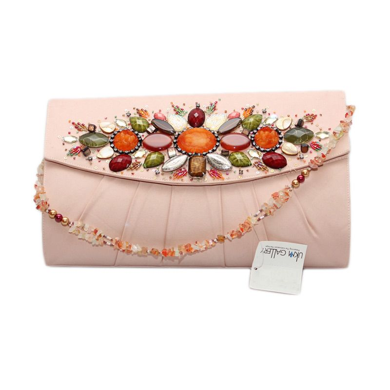 Smesco Trade Kerang Jumbo Peach Clutch