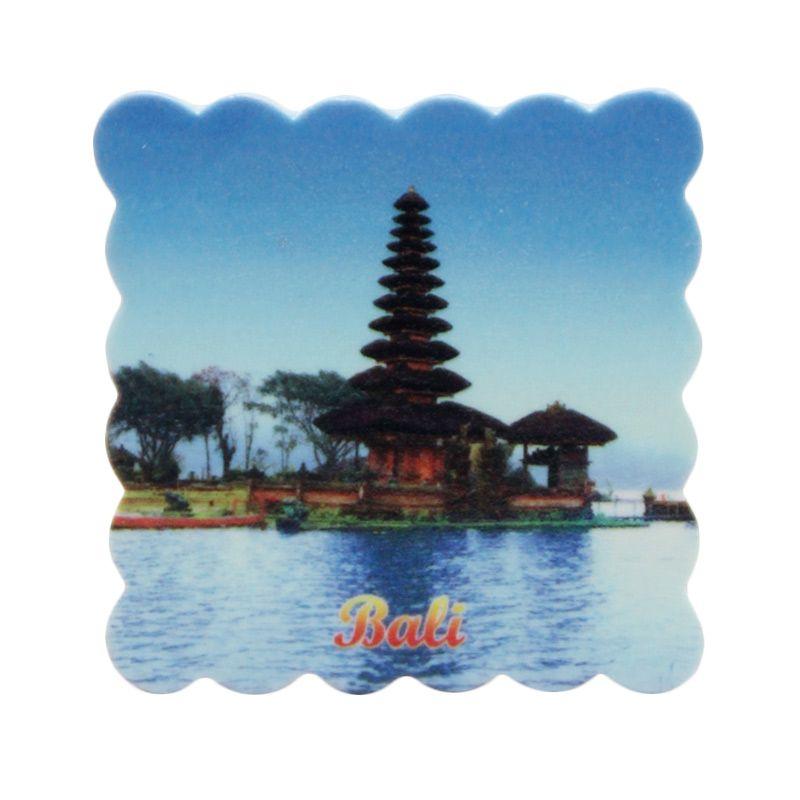 Smesco Trade Kotak Bali Biru Magnet Keramik Pajangan