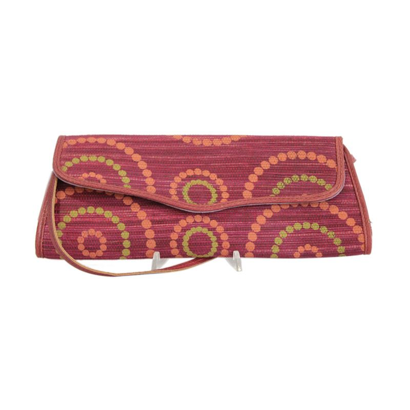 Smesco Trade Kulit Merah Maroon Clutch