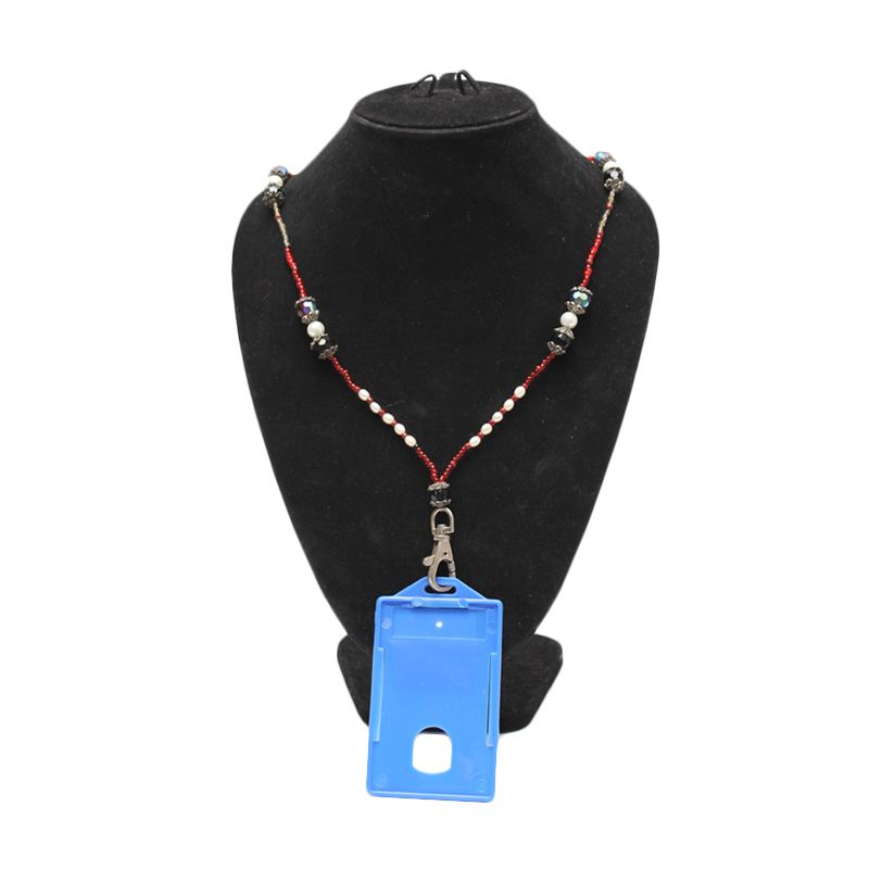 Smesco Trade Cokelat Hijau Lanyard Necklace Kalung ID Card [Badges+Glass]