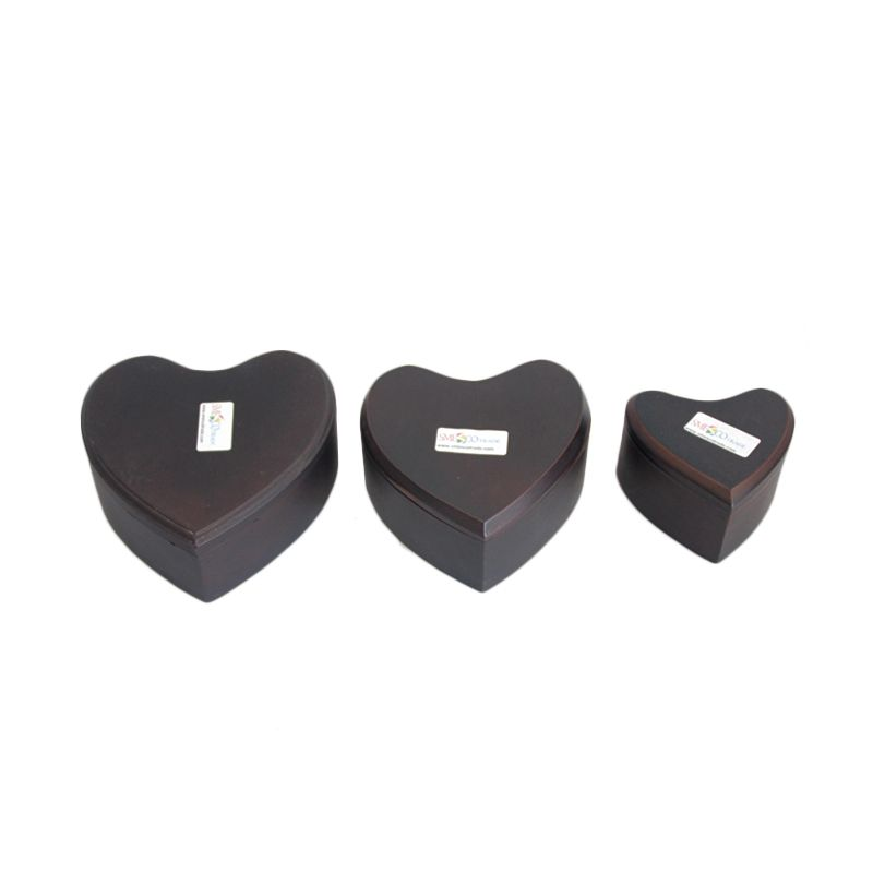 Smesco Trade Love Coklat Kotak Perhiasan [3 Pcs]