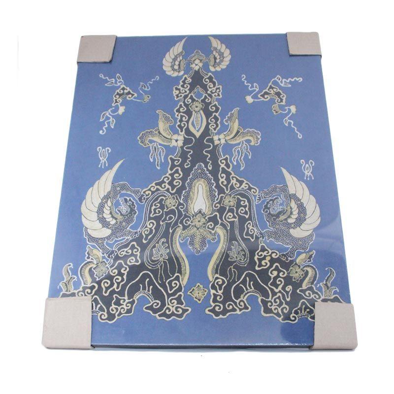 Smesco Trade Lukisan Batik Kain Biru Hiasan