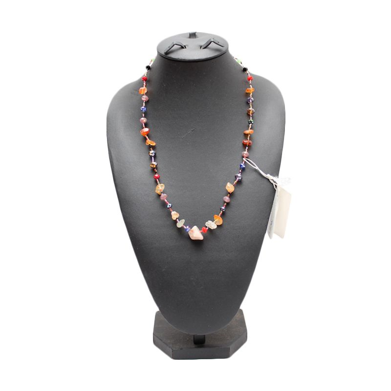 Smesco Trade Manik-Manik dan Batu Coklat Kalung