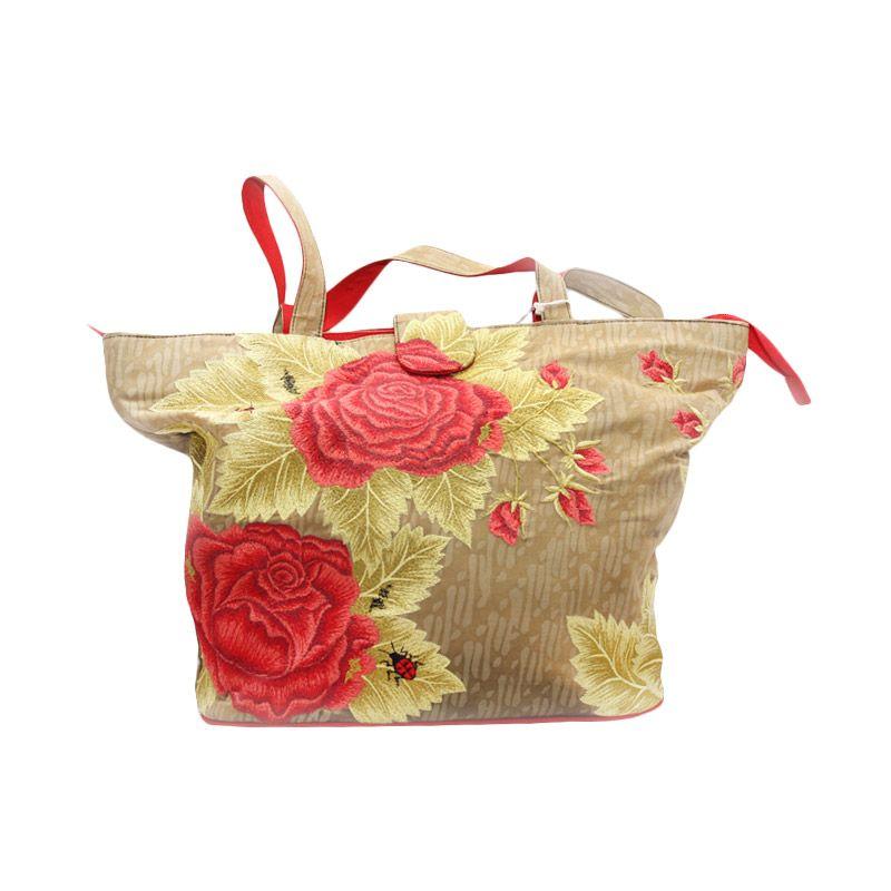 Smesco Trade Mawar Kombinasi Merah hijau Tas Tangan