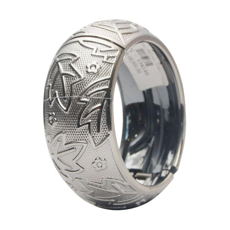 Smesco Trade Metal Carving Silver Gelang