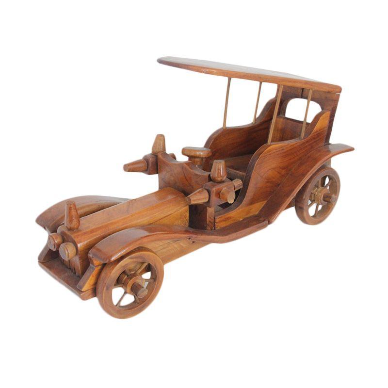 Smesco Trade Mobil Raja Coklat Pajangan Kayu