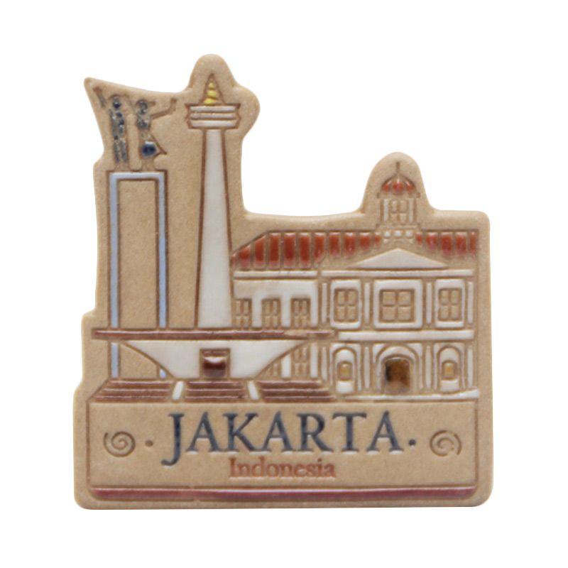 Smesco Trade Monas Fatahillah Coklat Magnet Keramik Pajangan