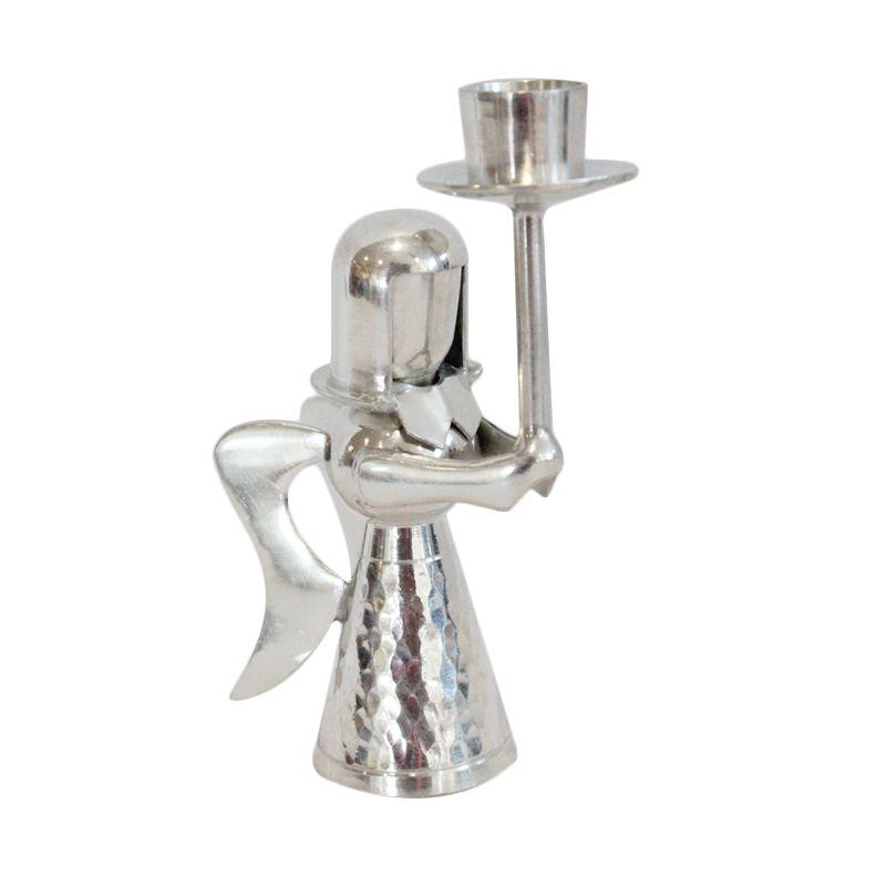 Smesco Trade Motif Raja Getok Silver Tempat Lilin