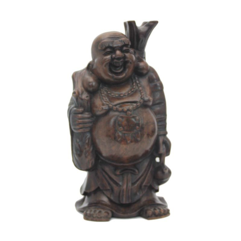 Smesco Trade Buddha Onte Besar Coklat Tua Patung Kayu