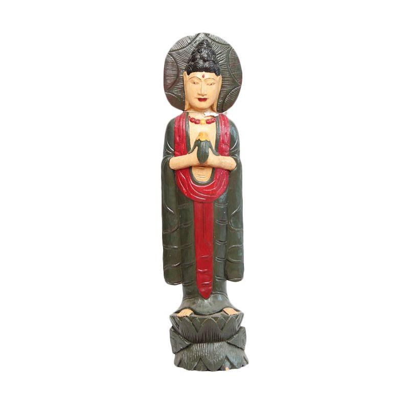 Smesco Trade Budha Besar Hijau Patung Kayu