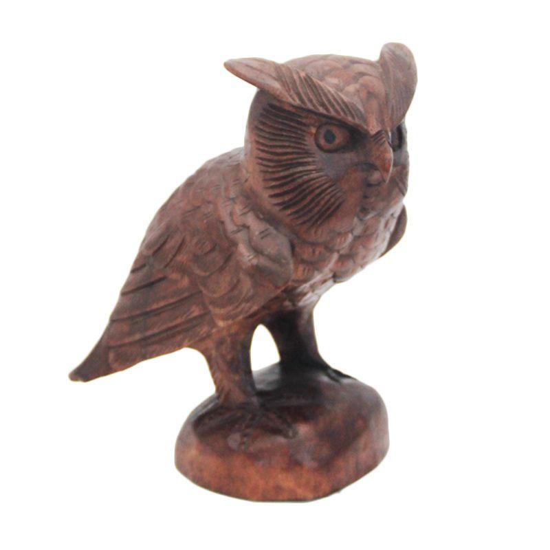 Smesco Trade Burung Hantu Patung Kayu