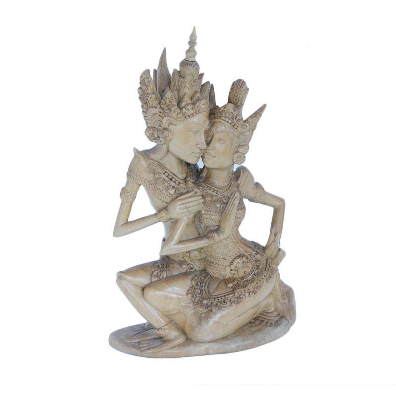 Smesco Trade Rama dan Shinta Coklat Patung Kayu