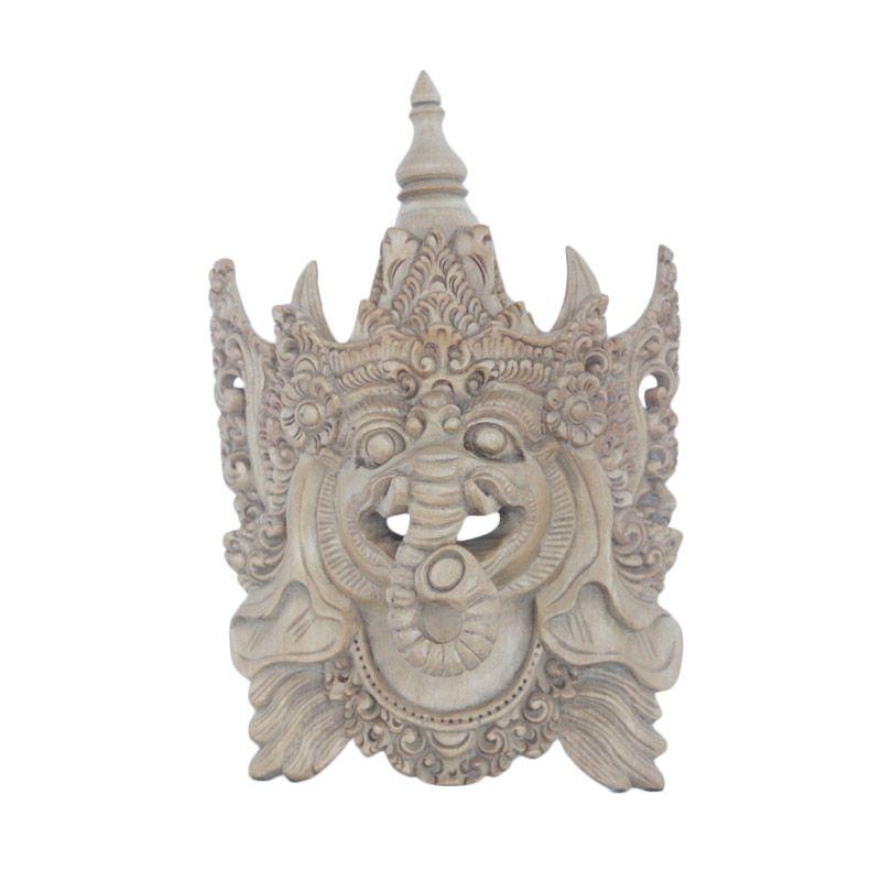 Smesco Trade Topeng Ganesha Cokelat Hiasan Dinding