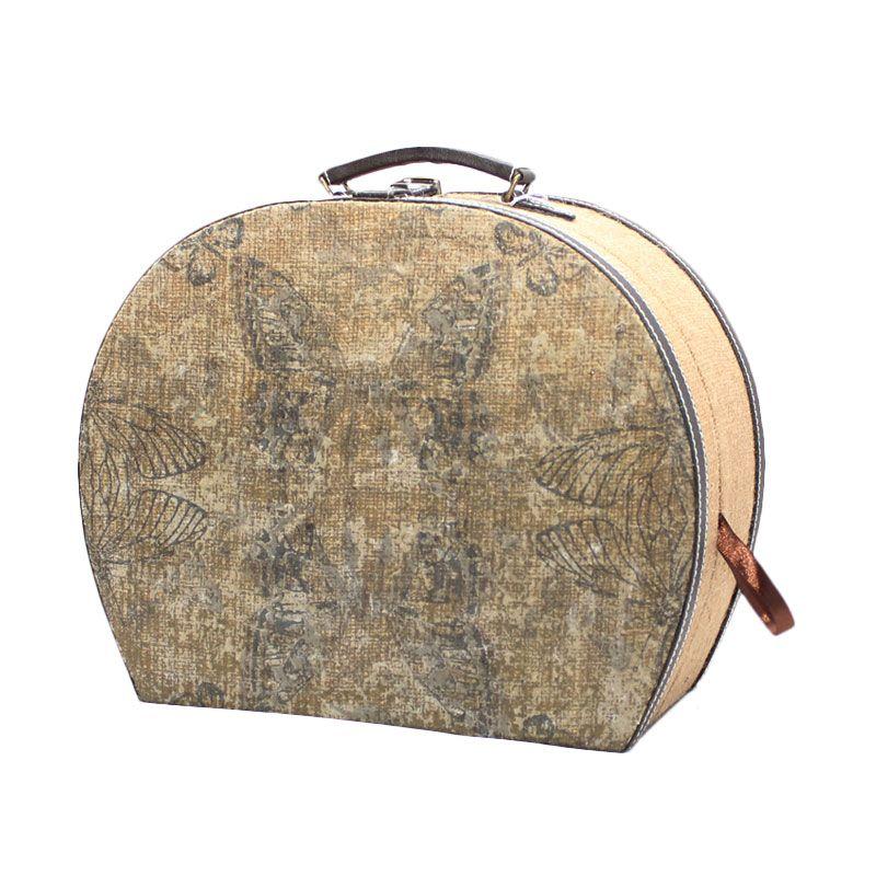 Smesco Trade Travel Bag Butterfly Cokelat Tas Tangan [Large]