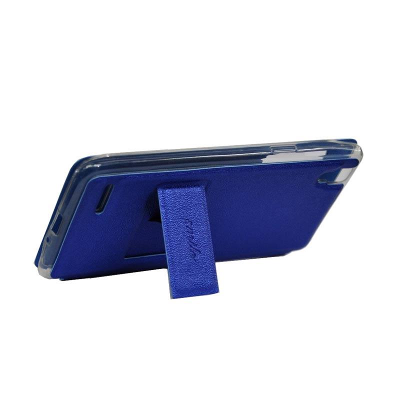 harga SMILE Flip Cover Casing for Samsung Galaxy Note 4 - Biru Tua Blibli.com