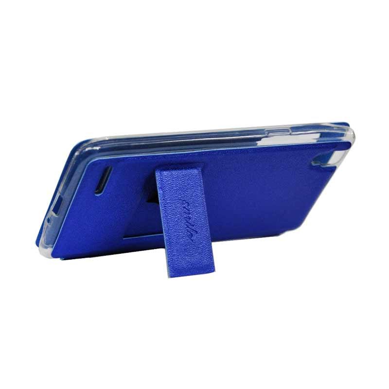 uk availability 9816c cba02 SMILE Flip Cover Casing for Vivo Y15 - Biru Tua