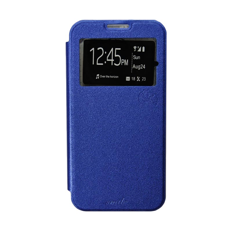SMILE Flipcover Casing for Samsung Galaxy S7 Edge - Deep Blue