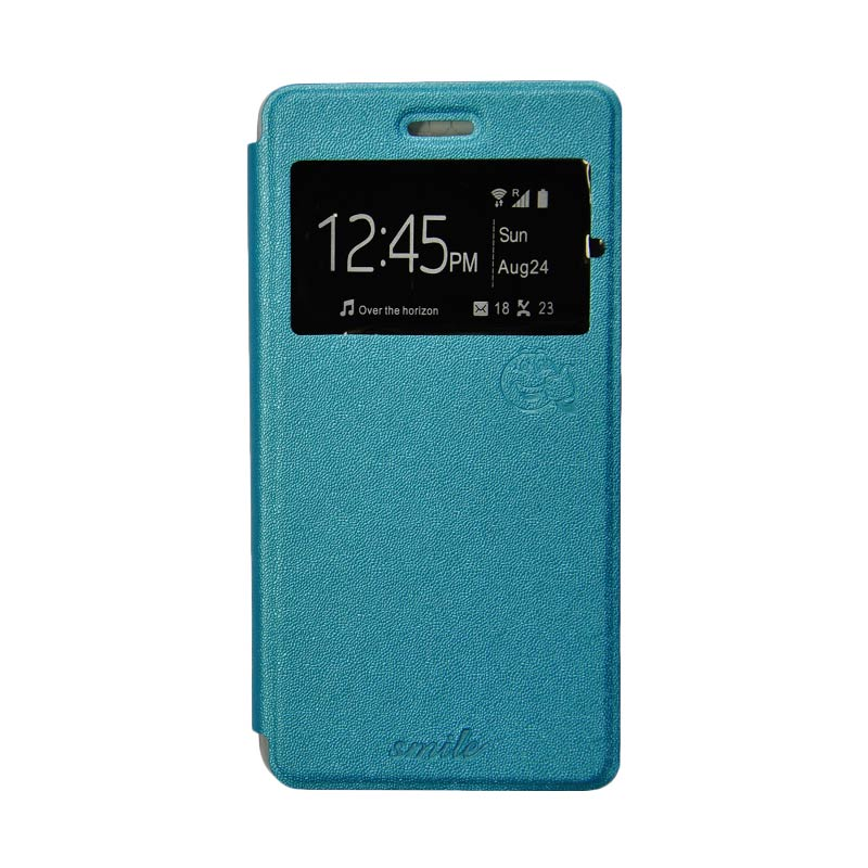 SMILE Standing Cover Casing for Oppo F1 - Blue