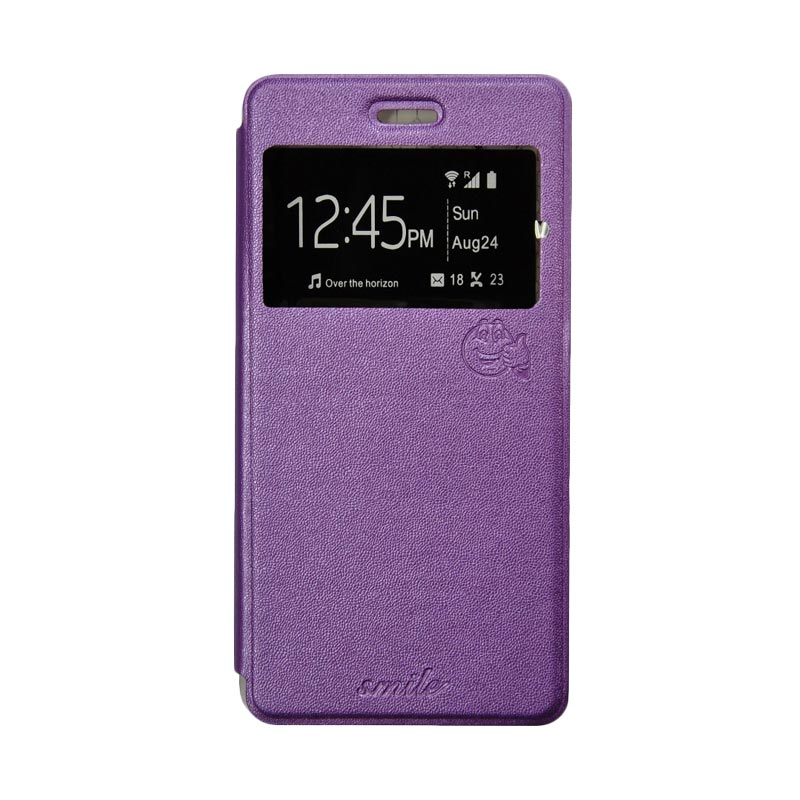 SMILE Standing Cover Casing for Oppo F1 - Purple