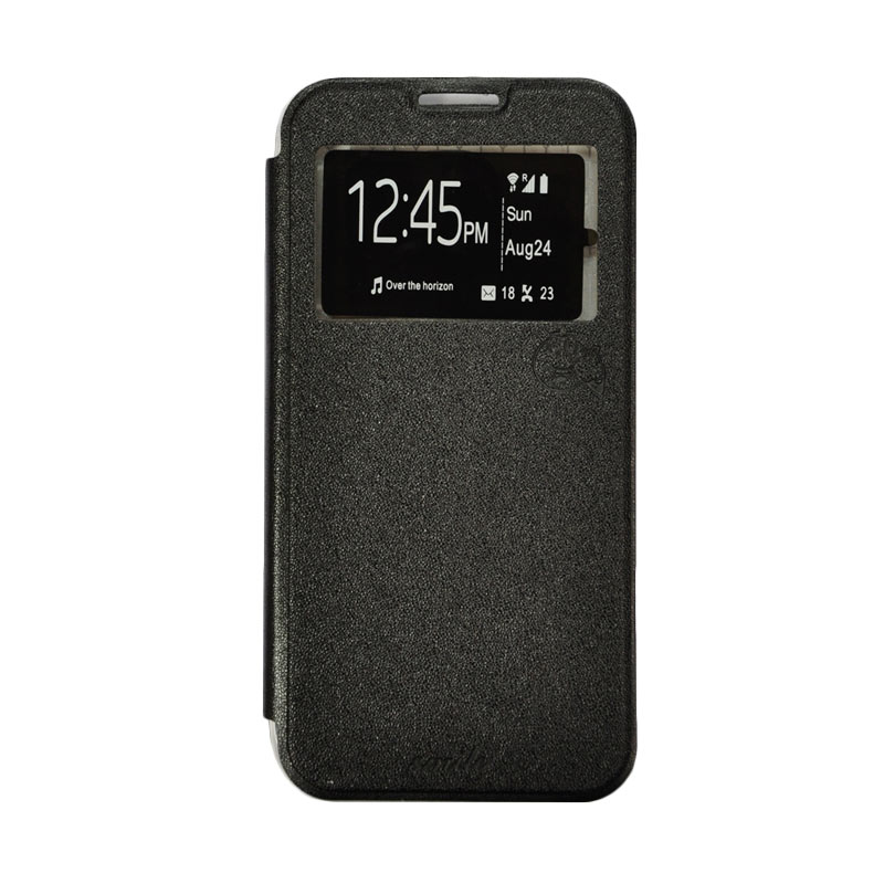 SMILE Standing Cover Casing for Samsung Galaxy A8 - Black