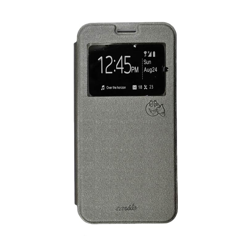SMILE Standing Cover Casing for Samsung Galaxy A8 - Grey
