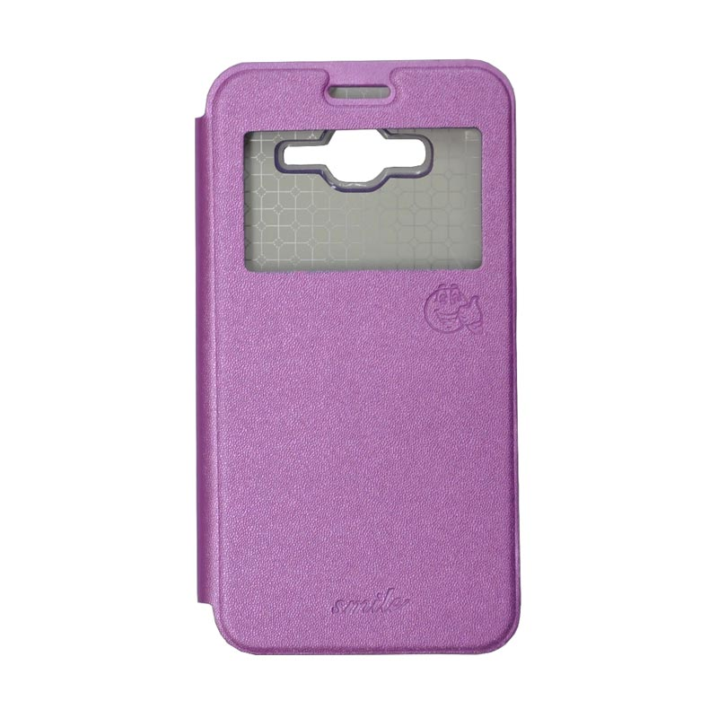 Smile Standing Cover Casing for Samsung Galaxy J7 - Purple