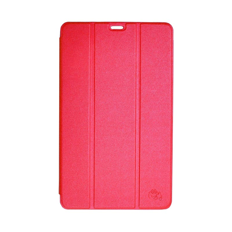 SMILE Standing Flipcover Casing for Samsung Galaxy Tab S T700 - Hot Pink [8.4 Inch]