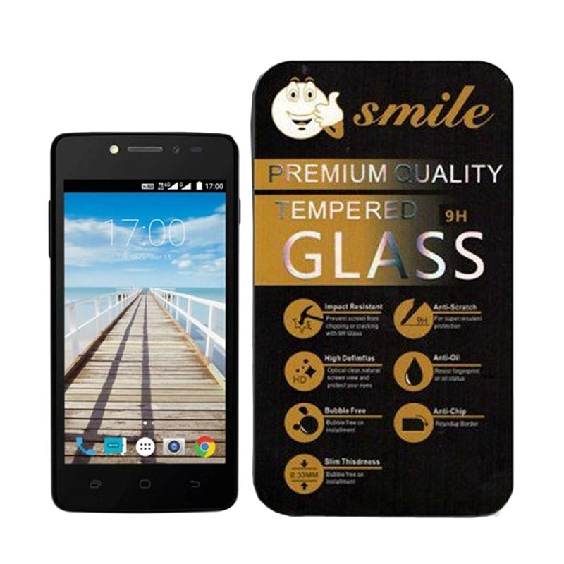 SMILE Tempered Glass for Andromax E2