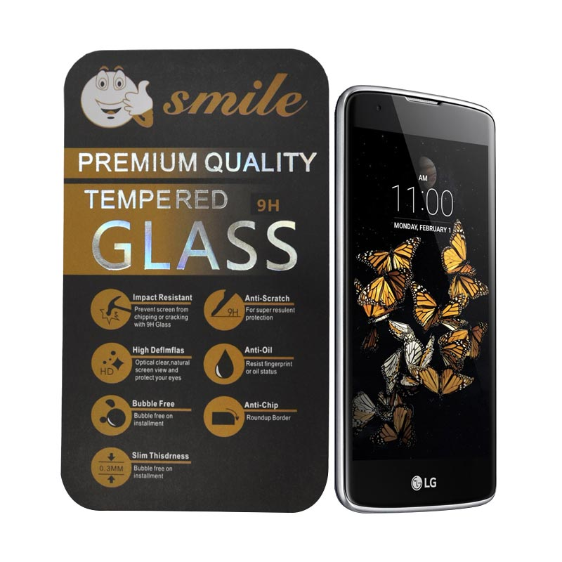Smile Tempered Glass Screen Protector for LG K8
