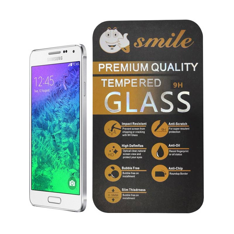 Smile Tempered Glass Screen Protector for Samsung Galaxy Alpha