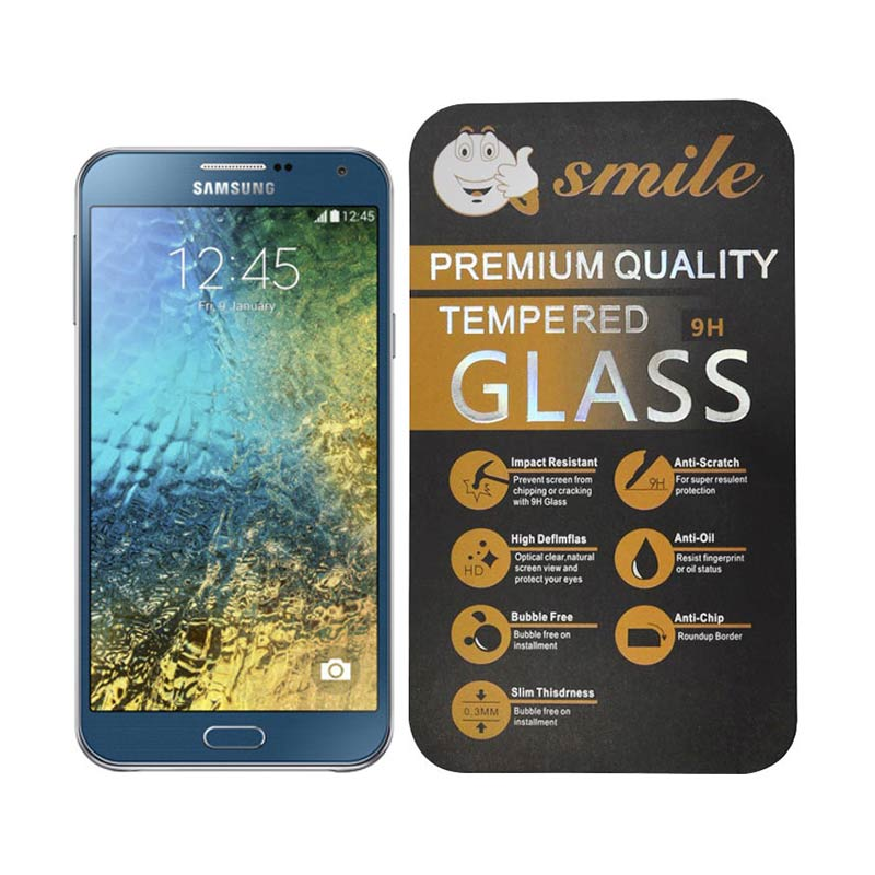 Smile Tempered Glass Screen Protector for Samsung Galaxy E7