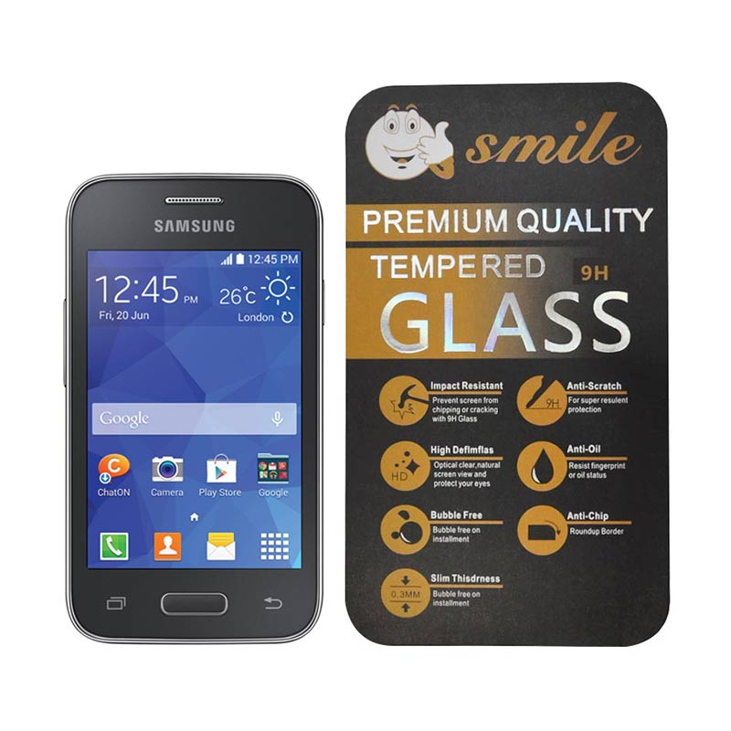 Smile Tempered Glass Screen Protector for Samsung Galaxy Young 2