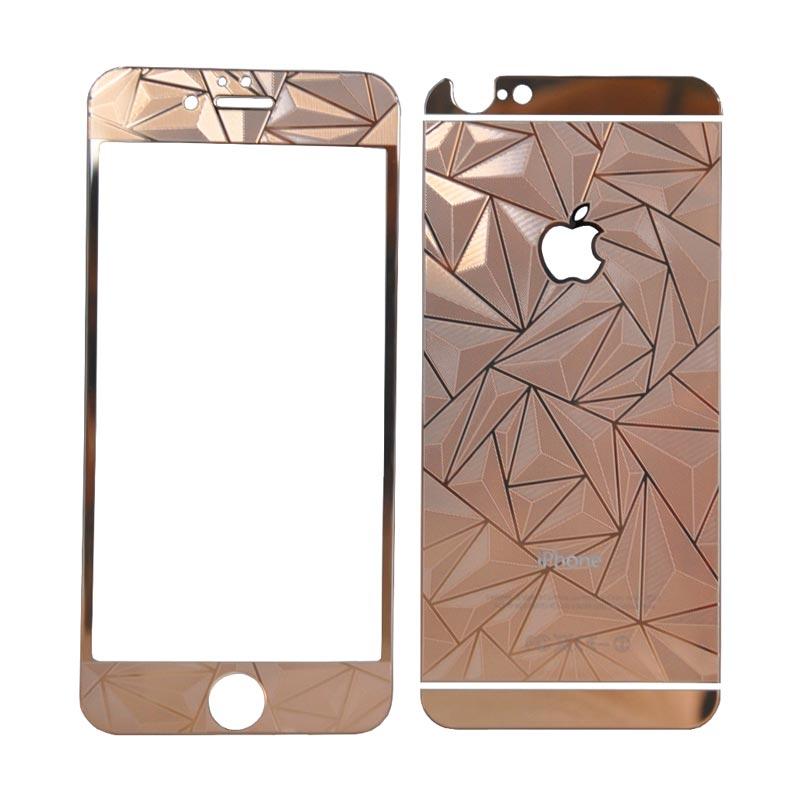 SMILE Tempered Glass Screen protector for iPhone 6 or 6s 4.7 Inch - Rose Gold [3D/2 in1]