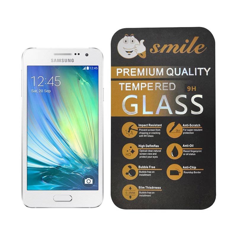Smile Tempered Glass Screen Protector for Samsung Galaxy A3