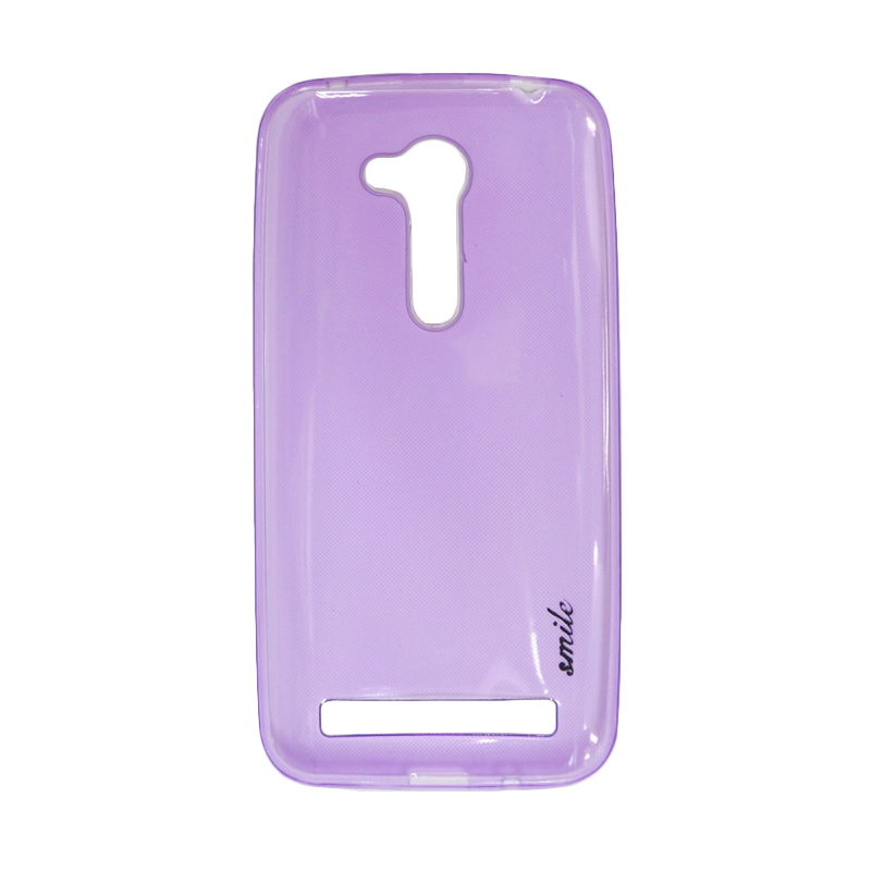 SMILE Ultra Thin Softcase Casing for Asus Zenfone Go ZB452KG - Purple Clear