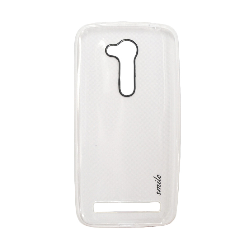 SMILE Ultra Thin Softcase Casing for Asus Zenfone Go ZB452KG - White Clear
