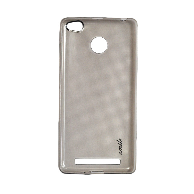 SMILE Ultra Thin Softcase Casing for Xiaomi Redmi 3 Pro - Black Clear