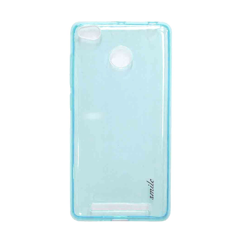 SMILE Ultra Thin Softcase Casing for Xiaomi Redmi 3 Pro - Blue Clear