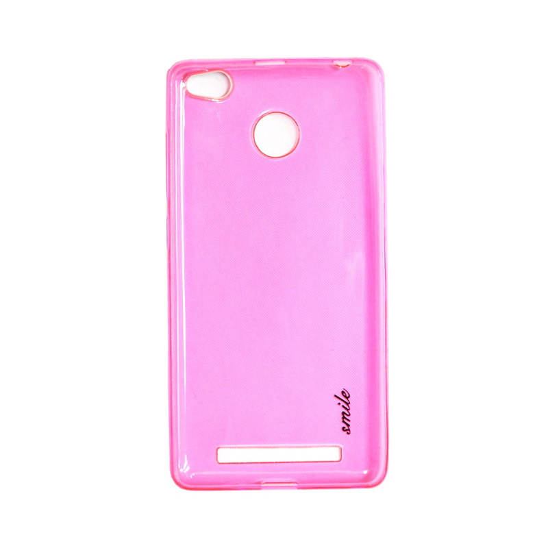 SMILE Ultra Thin Softcase Casing for Xiaomi Redmi 3 Pro - Pink Clear