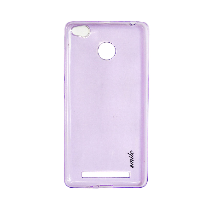 SMILE Ultra Thin Softcase Casing for Xiaomi Redmi 3 Pro - Purple Clear