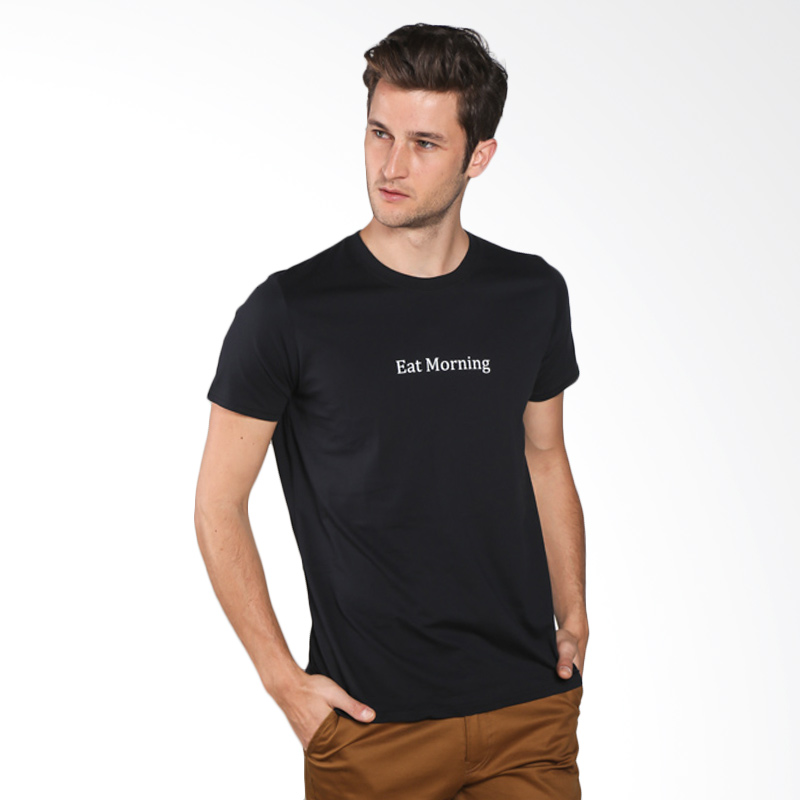 Snaaks Eat Morning E Man T-shirt - Black Extra diskon 7% setiap hari Extra diskon 5% setiap hari Citibank – lebih hemat 10%