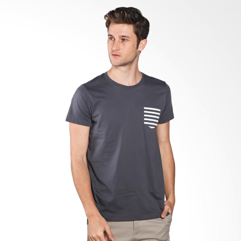Snaaks Kantong Garis KTG Man T-shirt - Grey Extra diskon 7% setiap hari Extra diskon 5% setiap hari Citibank – lebih hemat 10%