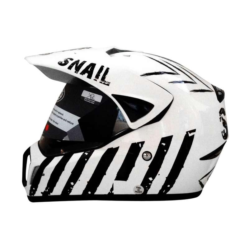 harga Snail Helmet Motocross Single Visor MX-310 Supermoto Motif Putih [HLM6090-MTFPUTIH] Blibli.com