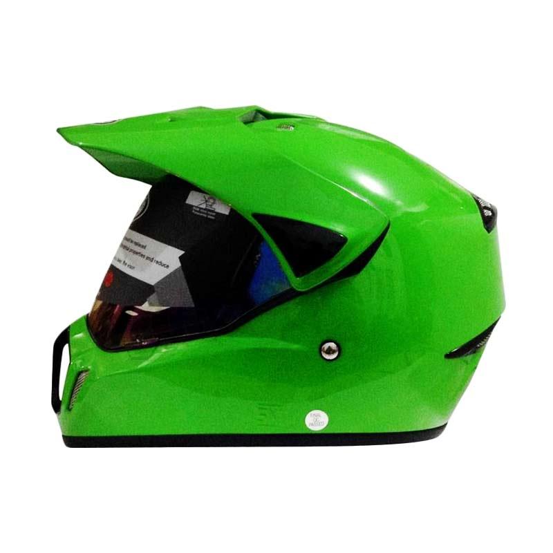 harga Snail Helmet Motocross Single Visor MX-310 Supermoto Polos Hijau [HLM6087-HIJAU] Blibli.com