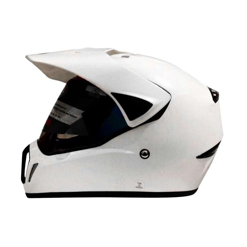 harga Snail Helmet Motocross Single Visor MX-310 Supermoto Polos Putih [HLM6087-PUTIH] Blibli.com