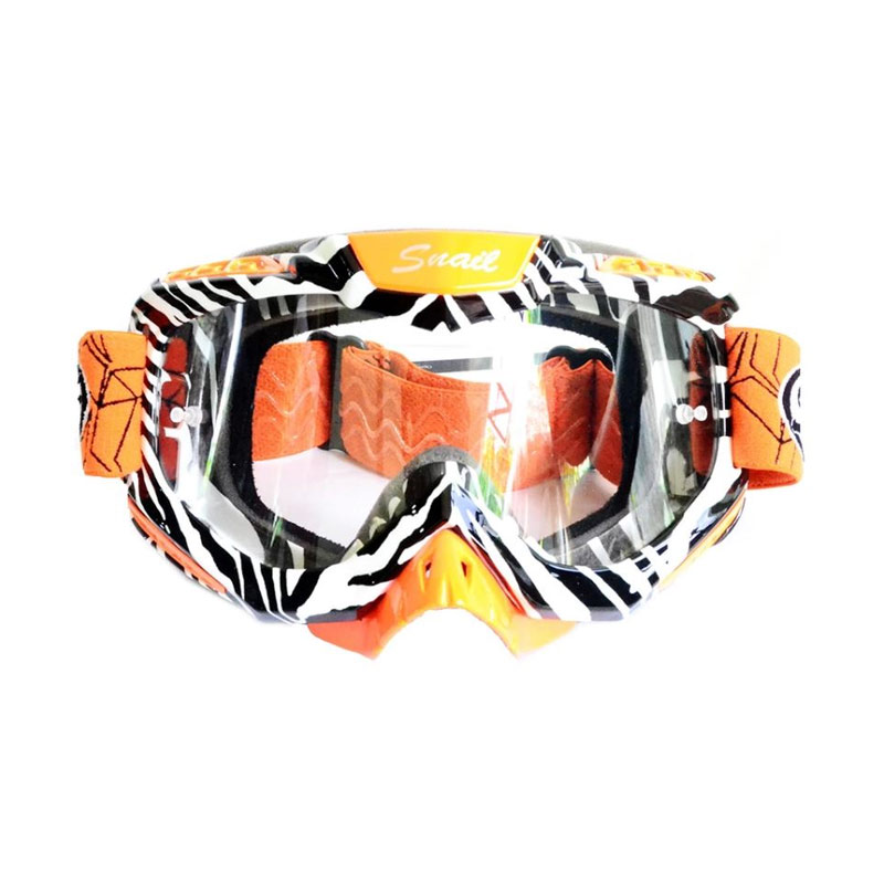 harga Snail MX37 Kaca Clear List Motif Zebra Kacamata Google - Orange [KMT6067-OrangeList Zebra] Blibli.com