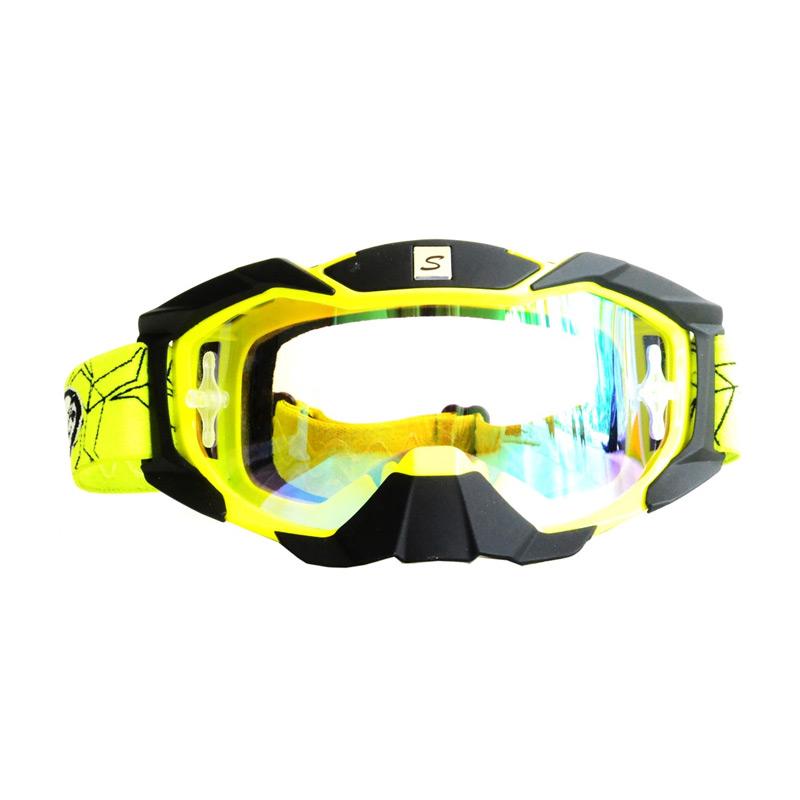 harga Snail KMT6066 - MX36 Pelangi Hitam List Kuning Kacamata Google Blibli.com