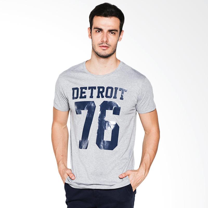 Social Jetlag Detroit Tee TS-45 - Misty Gray Extra diskon 7% setiap hari Extra diskon 5% setiap hari
